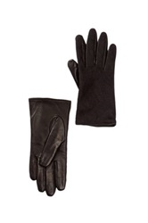 Fownes Bros Lace Back Leather Gloves Black