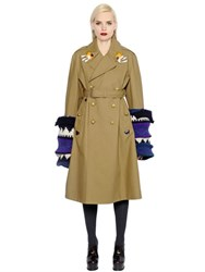 Maison Martin Margiela Double Breasted Cotton Gabardine Coat