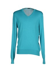 Paolo Pecora Knitwear Jumpers Men Turquoise