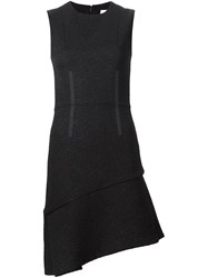 Carven Asymmetrical Hem Dress Black