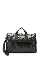 Le Sport Sac Large Weekender Bag Black Patent