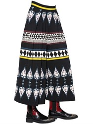 Antonio Marras Incas Print Stretch Crepe Palazzo Pants