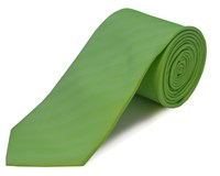 Double Two Polyester Tie Green