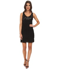 Aidan Mattox Sequin Tank Dress With Flapper Fringe Black Women's Dress
