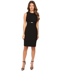 Versace Sheath Belted Sleeveless Dress Black Women's Dress