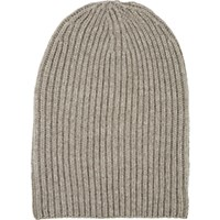 Barneys New York Women's English Rib Knit Beanie Tan