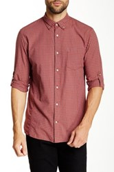 Star Usa By John Varvatos Roll Up Sport Long Sleeve Slim Fit Shirt Red