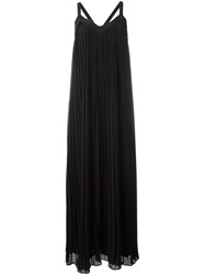 Michael Michael Kors Pleated V Neck Dress Black