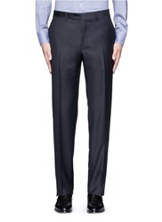 Canali Water Resistant Wool Pants Blue