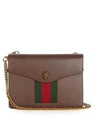 Gucci Animalier Grained Leather Shoulder Bag Brown