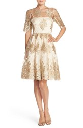 Women's Adrianna Papell Embroidered Lace Fit And Flare Dress