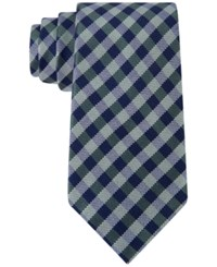 Club Room Men's Gingham Tie Only At Macy's Green