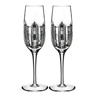 Waterford Essentially Dungarvan Champagne Flutes Set Of 2