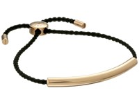 Michael Kors Adjustable Macrame Bracelet Gold Black Bracelet