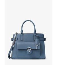 Emma Saffiano Leather Satchel