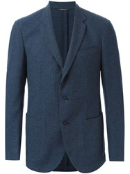 Loro Piana Button Blazer Blue
