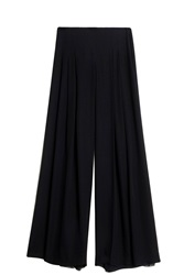 Oscar De La Renta Pleated Trousers Navy