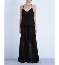 La Perla Maxi Sheer Beach Dress Black
