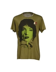 Pagano T Shirts Military Green