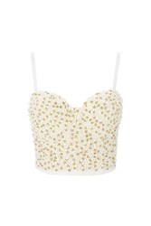 Wyldr Darlin Ivory Bustier With Pearl And Gold Beading By Ivory