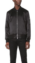 Ovadia And Sons Reversible Satin Bomber Jacket Black Olive