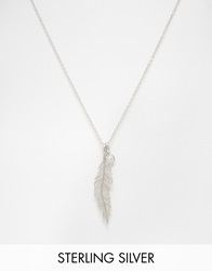 Pieces And Julie Sandlau Sterling Silver Jill Feather Long Pendant Necklace