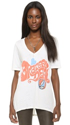 Chaser Grateful Dead Hippie V Neck Tee Salt