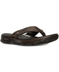 Skechers Men's Gowalk 3 Stag Thong Athletic Sandals From Finish Line Chocolate