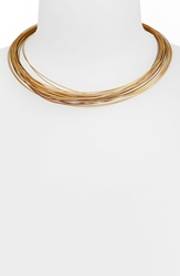 Alor 24 Row Cable Collar Necklace Bronze Blush Yellow