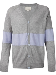 Band Of Outsiders Contrast Panel Cardigan
