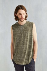 The Narrows Henley Muscle Tee Olive