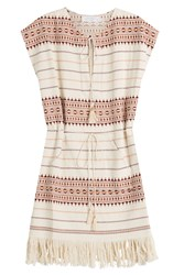 Zimmermann Embroidered Cotton Tunic Multicolor