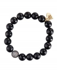 Soul Journey Black Onyx Beaded Stretch Bracelet