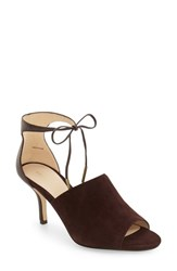 Pelle Moda Women's Ivet Ankle Strap Pump Chocolate Leather