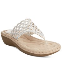 Cliffs By White Mountain Cameo Thong Wedge Sandals Women's Shoes