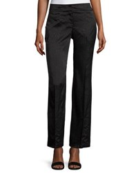 Laundry By Shelli Segal Tonal Print Wide Leg Trousers Black