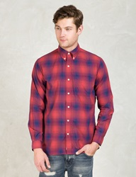 Silas Red Plaid L S Shirt With Elbowpatch