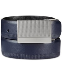 Kenneth Cole Reaction Men's Reversible Feather Edge Belt Navy Black