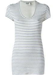 Forte Forte Striped T Shirt White