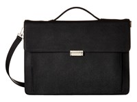 Jack Spade Barrow Leather Top Handle Briefcase Black Briefcase Bags