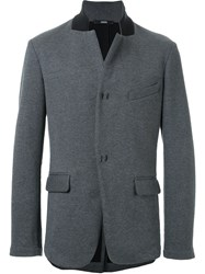 Assin Tailored Jersey Jacket Grey