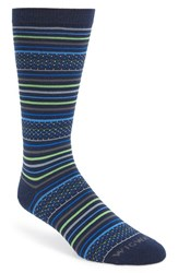 Men's Wigwam 'Downtown' Stripe Socks Navy Green