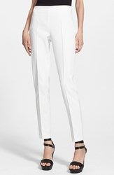 Women's Akris 'Melissa' Slim Techno Cotton Pants Offwhite