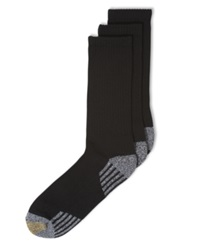Gold Toe Socks 3 Pack G Tech Sport Outlast Crew Socks Black