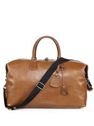 Coach Leather Duffel Bag Brown