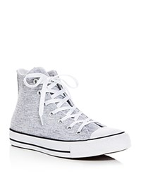 Converse Chuck Taylor All Star Sparkle Knit High Top Sneakers Black White