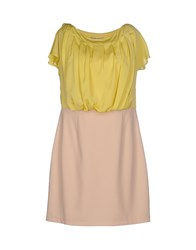 Annarita N. Dresses Knee Length Dresses Women Light Yellow