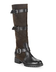 Karl Lagerfeld Knee High Leather Boots Bark
