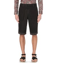 Dries Van Noten Philby Wool Shorts Mud