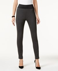 Inc International Concepts Pull On Skinny Pants Only At Macy's Dark Heather